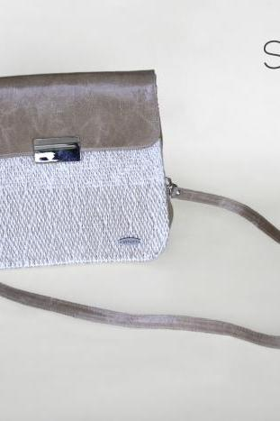 I loveNeutrals hand-woven shoulder bag