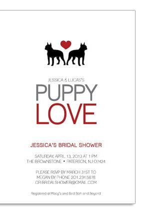 Puppy Love Themed Invitation