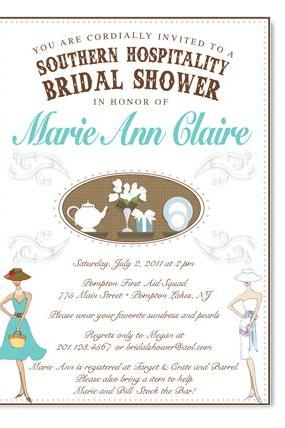 Southern Hospitality Themed Bridal Shower Invitation