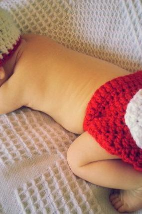 Baby Baseball Newborn Crocheted Baby Boy Baseball Hat Diaper Cover Set
