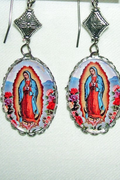 VIRGIN OF GUADALUPE EARRINGS Our Lady