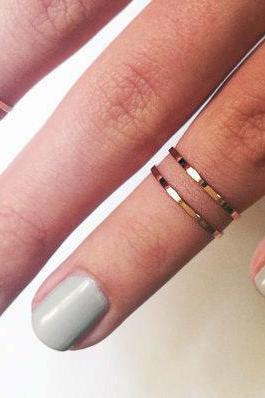 Super cute above the knuckle rings - Set of 4 - GOLD or SILVER - Midi ring stackable and stylish!
