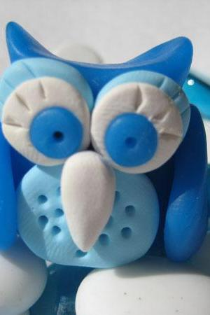 Frotzen the Owl - Polymer clay figurine