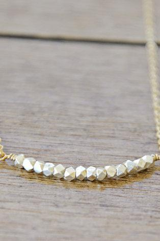 Silver and Gold Necklace - Sterling and Gold Filled