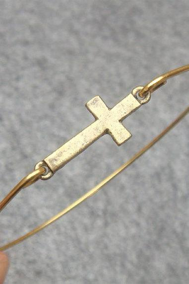 Cross Bangle Bracelet Style 4