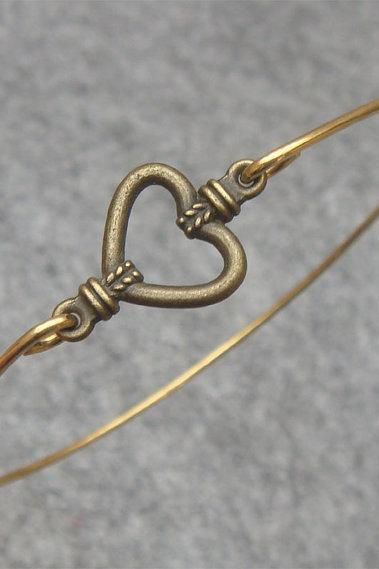 Lovely Heart Bangle Bracelet Style 25