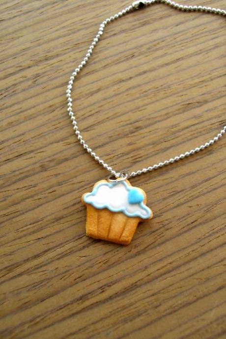 Cupcake Cookie Charm Bracelet - Blue Heart to the Right