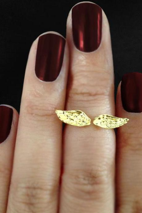 Angel Wing Above Knuckle Ring Gold or Silver Free Shipping