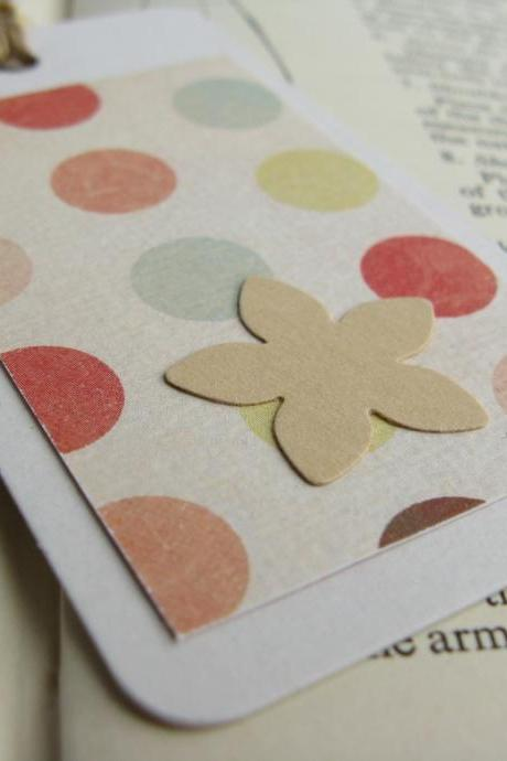 SALE Retro Dotty mini bookmark