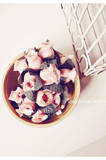 Artificial Flowers - Rose Bud Flowers - Wedding Decorations, Party Favors, Gift Toppers