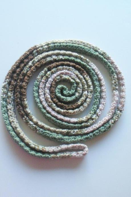Crochet Infinity Wrap Scarf, tube scarf, extra long rope scarf, ready to ship.