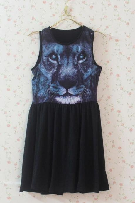Cute 3D Print Animal Dress