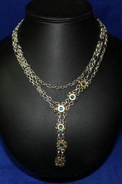 Western Bullet and Chain Necklace