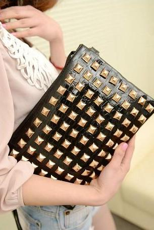 Multifunction Hot Rivet Clutch Bag/Satchel