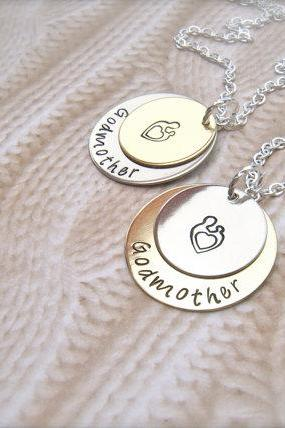 Custom Single Name and Birthdate Hand Stamped Personalized Pendant Necklace