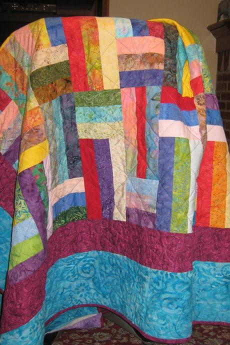 Amazing Batik Quilt - Quilt Pattern - Jelly Roll friendly - Beginner