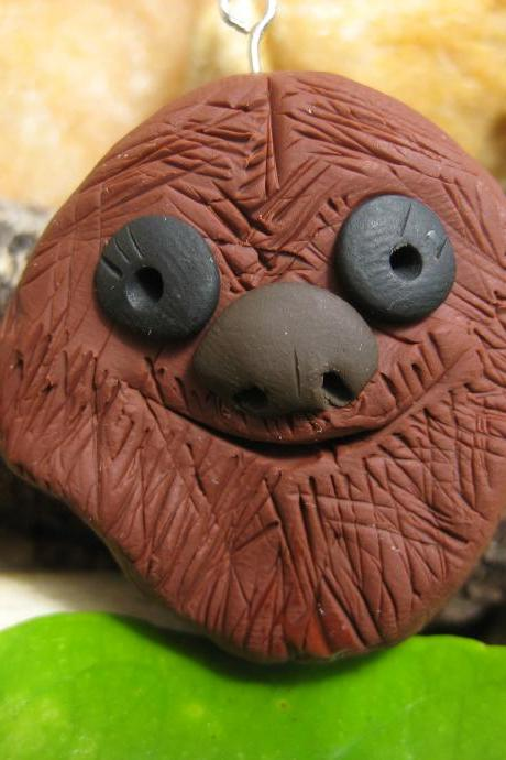 Chewbacca inspired Polymer clay pendant charm, ornament, cell phone charm
