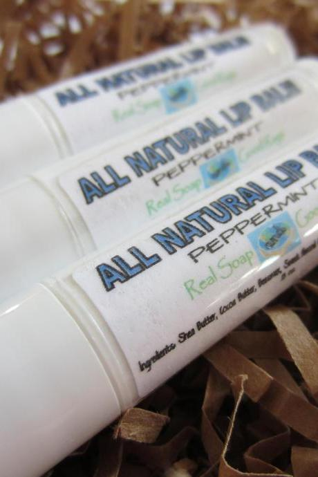 All Natural Peppermint Lip Balm