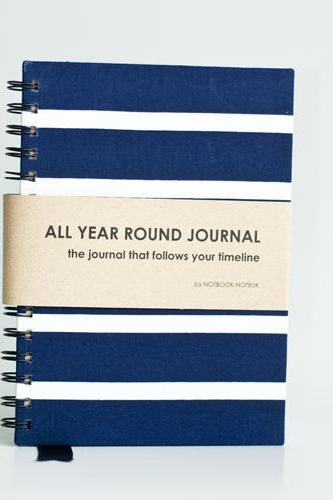 All Year Round Journal (unfilled dates / months / years) - Nautical