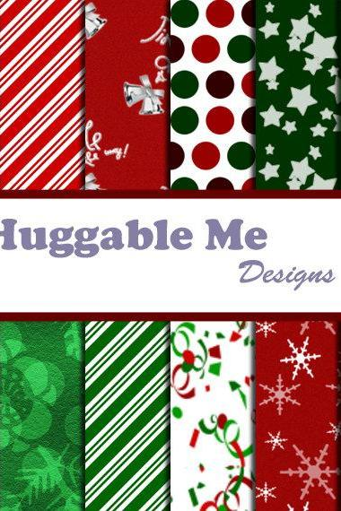 SALE Digital Scrapbook Printables Christmas Holidays Digital Paper for Scrapbook Invitation Cards 12x12 - HMD00023