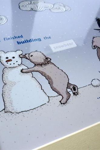 Snowbear illustrative print - 8.5' x 6.5' / 215mm x 165mm