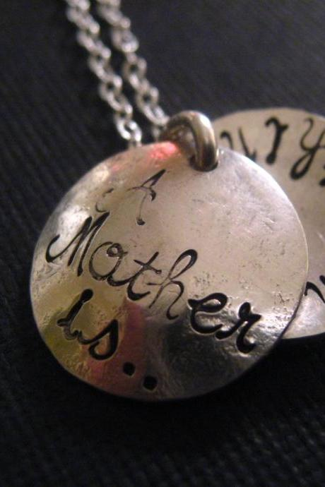 Mother's Day Gift, A Mother Is...Everything, Quote Necklace, Locket Necklace, Personalized Jewelry, Personalized Necklace