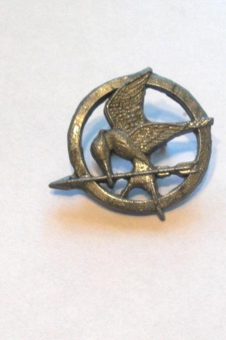 Silver Mocking Jay Pin - Hunger Games - Handmade