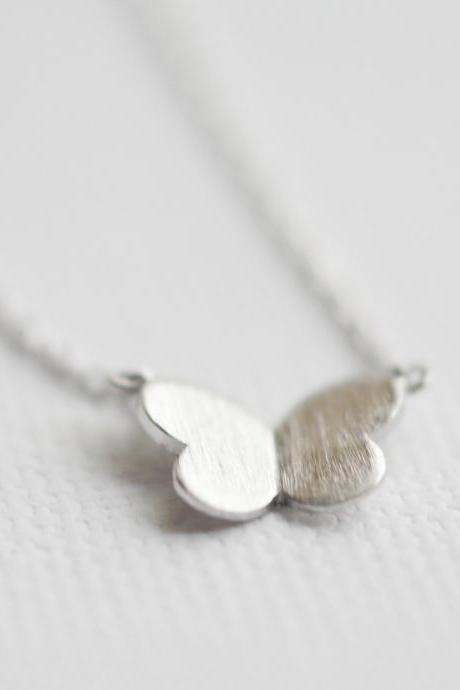 Butterfly necklace in Silver