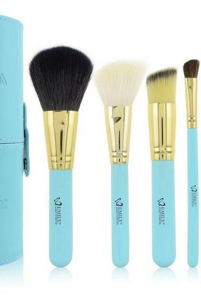 High Quality EMILY 7pcs/Set Support Portable Tongzhuang Multifunction Pen Holder Brush Sets Makeup Brushes - Blue