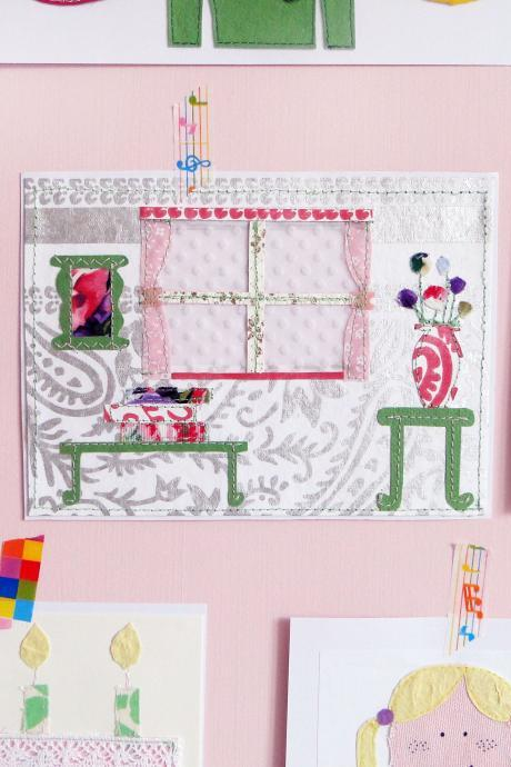 Pretty Living Room Textile Art Mini