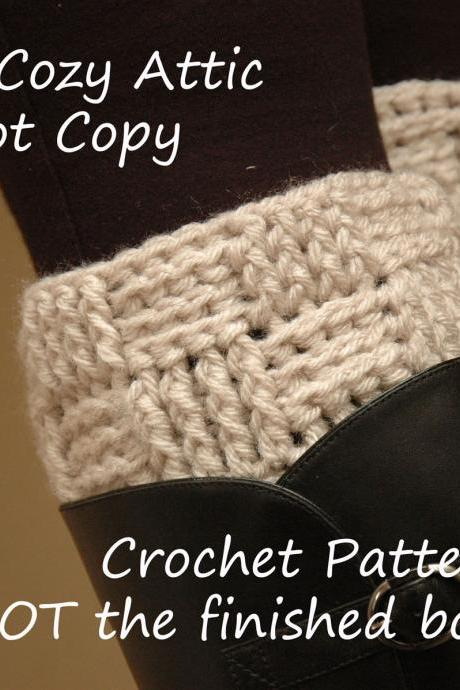 Crochet PATTERN - Basketweave boot cuffs - boot cuff - leg warmers - boot socks