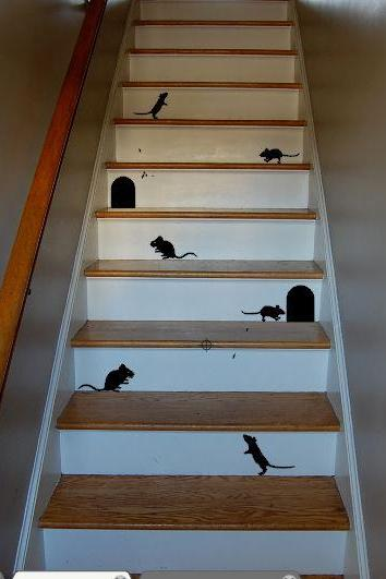 Mice Stair Decals