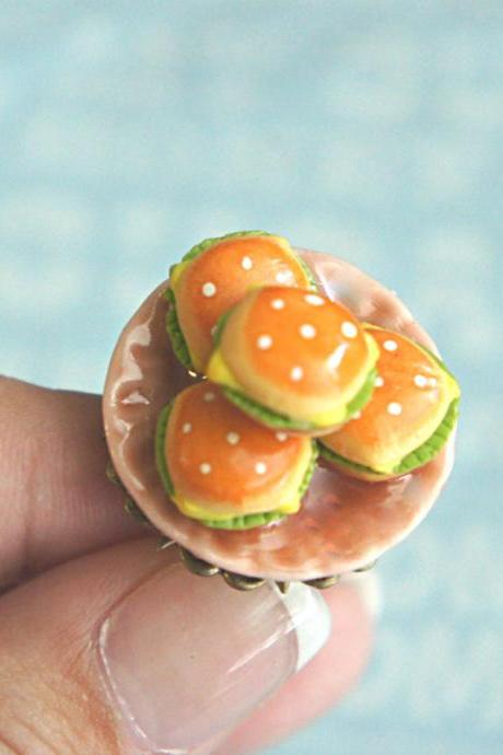 burger plate ring