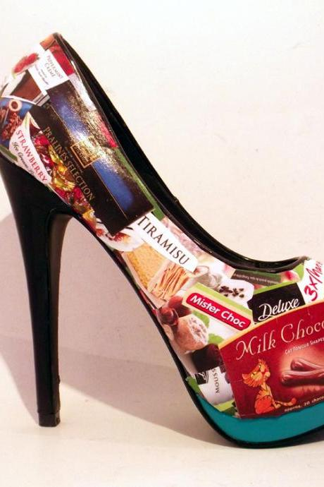 Handcrafted Shoes - I Love Chocolate