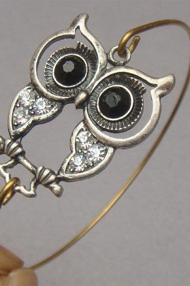 Lovely Owl Bangle Bracelet