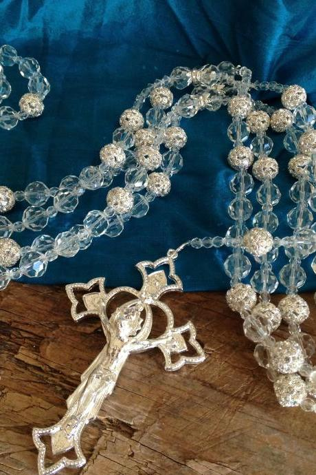 CRYSTAL AND RHINESTONE WEDDING LASSO