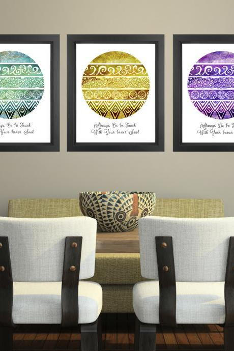 Tribal Evolution Quote Series - 11x14 Set of 3 Discounted Poster Prints