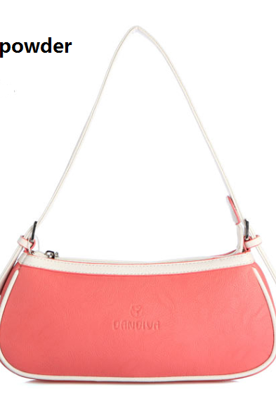 Candy Colour Casual Handbag, Baguette Bag