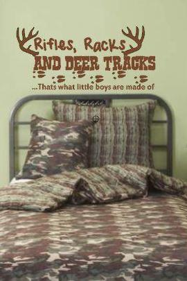Rifles, Racks and deer tracks Vinyl Decal