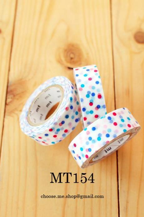 Japanese Masking tape, MT154, Colorful MIX dot