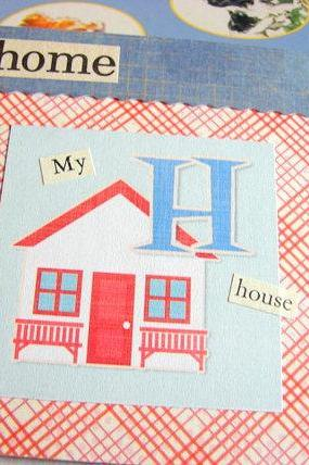H Is For Home Collage - Kids Nursery Childrens Wall Art Decor - Alphabet ABC - My House
