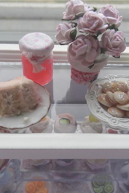 Dollhouse Miniature Shabby Chic Pastisserie Bakery Counter