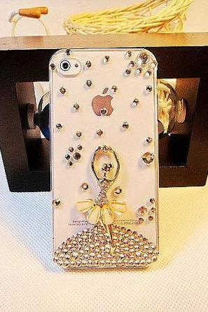 Ballet Girl Bling Crystal iPhone 4 Case, Crystal iPhone 5 Case